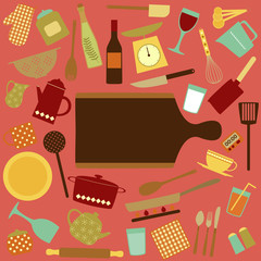 Kitchen tools Background