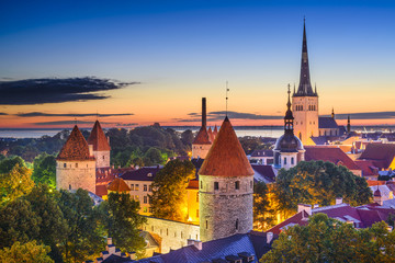 Foto op Canvas Oost Europa Tallinn, Estonia Old City