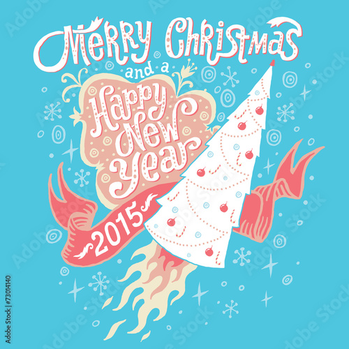 Merry christmas and happy new year 2015 greeting card stock image merry christmas and happy new year 2015 greeting card m4hsunfo