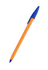 Orange pen isolated on white