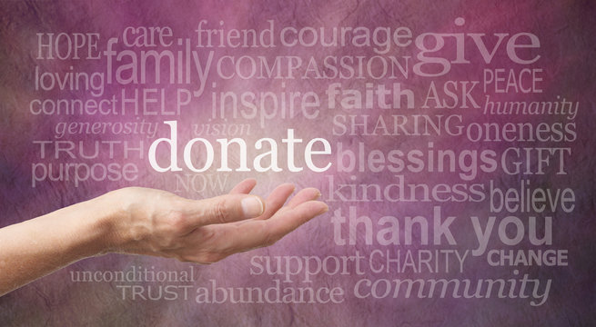 Please Donate Word Wall