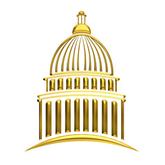 Golden Capitol building