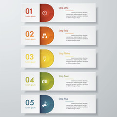 Design clean number banners template. Vector.