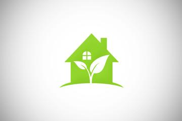 green house garden ecology vector logo