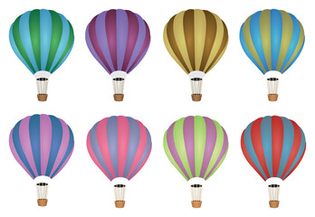 Colourful Hot Air Balloon Vector