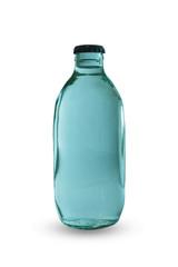 Glass bottle, isolated on white background.