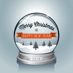 Christmas Snowglobe Background