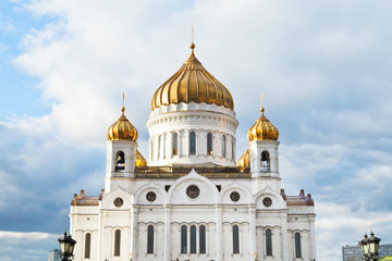 Christ the Saviour Cathedral under cloudy blue sky