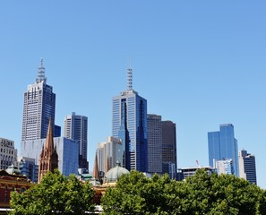 Old and new architecture in Melbourne in Australia