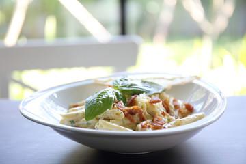 Spaghetti penne Carbonara