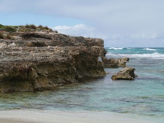 The rocks and the breakers of the Southern ocean