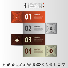 Squares infographic design. Vector template. Banner