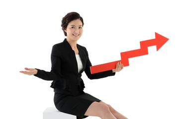 금융경제 컨셉의 비즈니스우먼