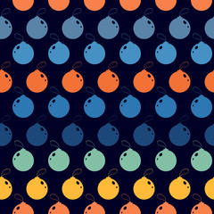 Seamless abstract pattern with  color Christmas tree ball