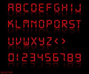Digital Font Illustration