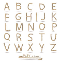 Rope Alphabet Illustration
