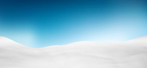 Winterlandschaft, Schnee, verschneit, Hintergrund, blauer Himmel