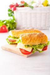 Fresh and tasty sandwiches