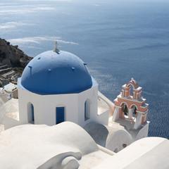 Church in Oia on the island of Santorini in Greece.