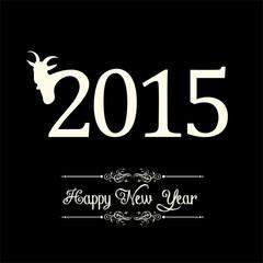 creative New Year 2015 design stock vector