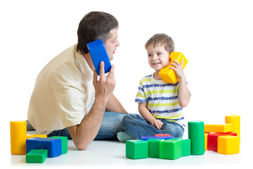 father and kid boy role play