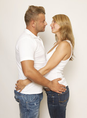 Poster de jardin Artiste KB Couple embracing each
