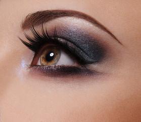 Glamour Eye make up  close up