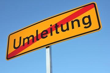 Deutsches Verkehrszeichen: Ende der Umleitung
