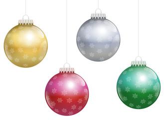 Christmas Tree Balls Snowflakes