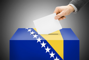 Ballot box as national flag - Bosnia and Herzegovina