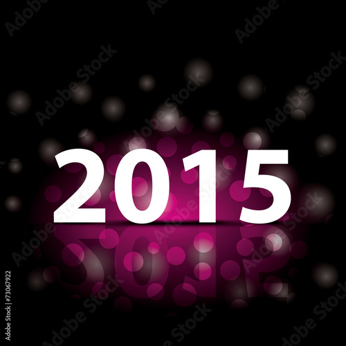 simple new year 2015 illustration colorful happy new year card