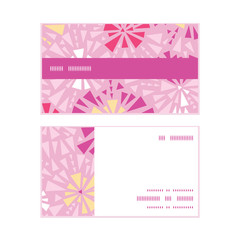 Vector pink abstract triangles horizontal stripe frame pattern
