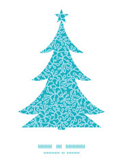 Vector abstract underwater plants Christmas tree silhouette