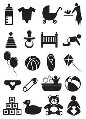 Baby Stuff Icon Set