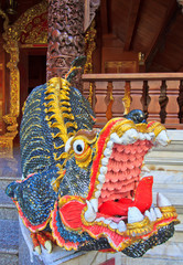 MOM statue is animal in fairy tale at the temple in Thailand