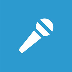 microphone icon, white on the blue background .