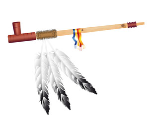 Indian pipe of peace