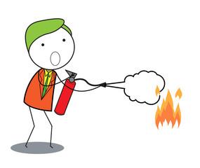 man fire extinguisher