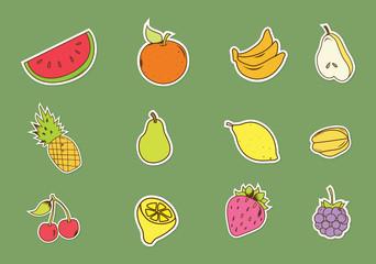 Baground fruits and vegetables