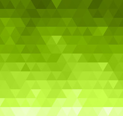 Abstract green color retro background with  triangle