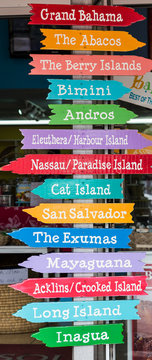 Island Signs in Nassau Bahamas