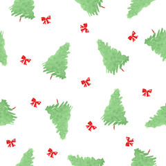 Pattern with christmas tree. vector illustration