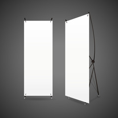 blank roll up banners set