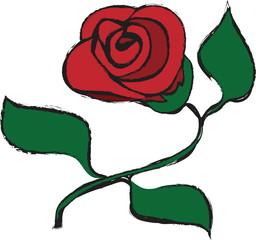 doodle red roses grunge