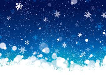 イラスト素材 クリスマス 背景 青