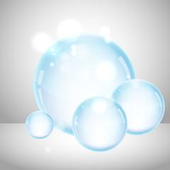 Transparent soap bubbles