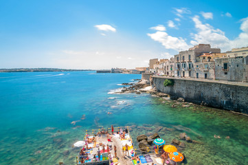 Ortigia and Mediterranean sea in Syracuse, Sicily, Italy Fototapete