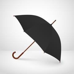 Vector illustration of classic elegant opened umbrella