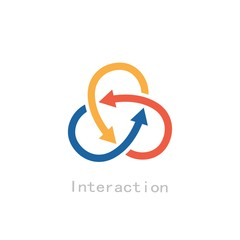 Obraz interaction - fototapety do salonu