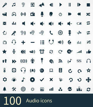 100 audio icon